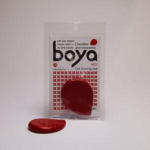 Cinnabar red boya crayon