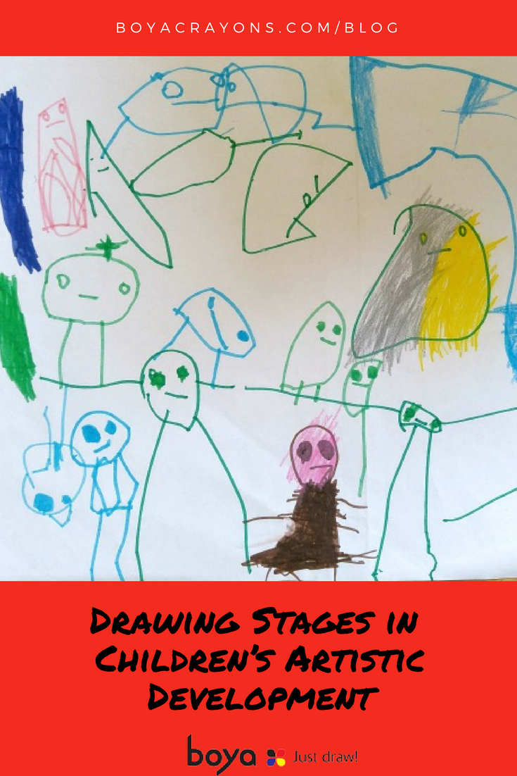 How to draw a child in stages